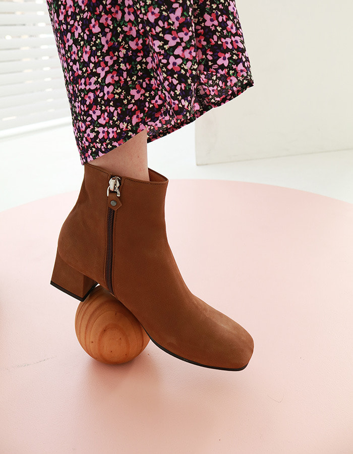 T023 basic boots brown (5cm)