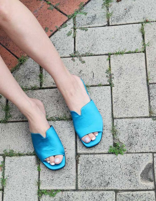 T014 v-slipper marine blue
