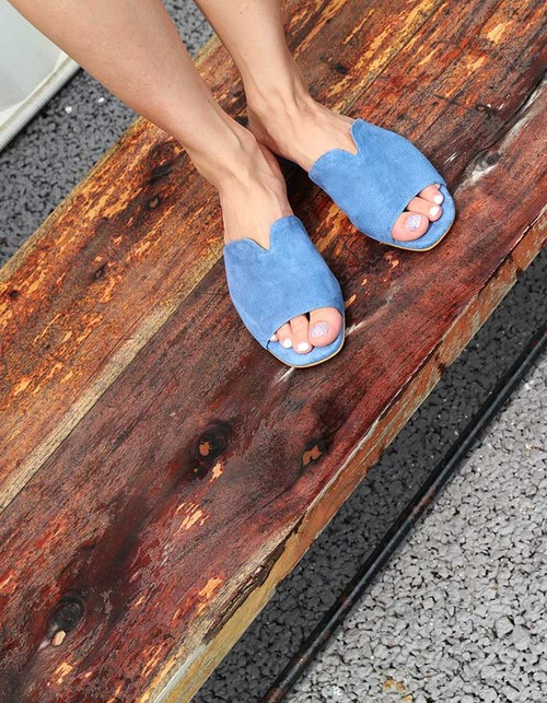 T014 v-slipper aqua blue
