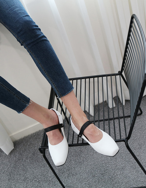 T006 jane loafer white (2cm)