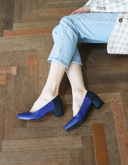 T007 pumps blue-navy (5cm)
