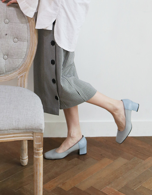T007 pumps L.grey-sky blue (5cm)