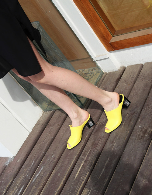 T017 clear sandals lemon (6cm)